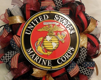 Marine Corps Wreath, Marine Corps Decor, Marine Corps Wreaths, Marine wreath, marines wreath, marine wreaths, memorial day wreath, marines