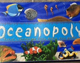 Oceanopoly Boardgame There is something fishy about this game mint condition ! Rare Version hard to find.!