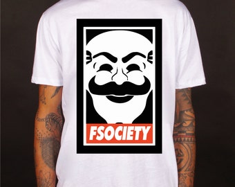 Mr robot t-shirt, fsociety t-shirt, mr robot tee, fsociety tee apparel, top, tees,  t-shirts, tops, pet, 100% cotton, made in Italy