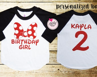 Minnie Mouse shirt, Minnie Mouse Birthday shirt, Minnie mouse party, Disney shirts, Disneyland shirt, Minnie Mouse girl's shirts