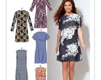 Sewing Pattern for Misses'/Women's Fitted, Sheath Dresses, McCall's Pattern 7533, NEW PATTERN 2017 Spring Line, Plus Sizes