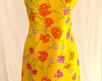 Vintage Dress 1960's 1970's Retro