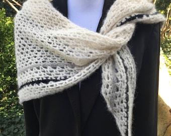 Classy and super soft triangle shawl
