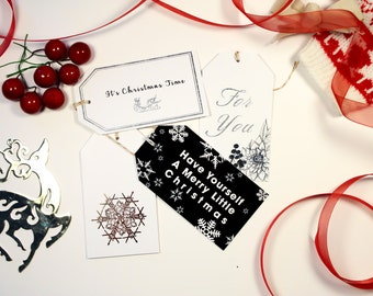 Holiday Gift Tags- Set of 12- For You