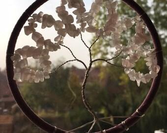 Tree of life pendant with gemstones