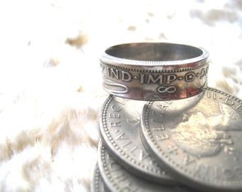 One shilling coin ring