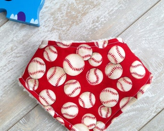 Gender Neutral Boys or Girls Baseball Bib, Sports Bib, Drool Bib, Vintage Bib, Made to Order