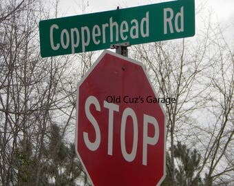 Photograph - Copperhead Road Street Sign