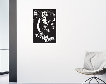 Yeah Yeah Yeahs Decal / Adhesive Poster / Indie Decor / Indie Band Stickers