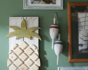 Pineapple Layered Wood Pineapple, Pineapple Art, Hawaii Art, Tropical Pineapple Picture, Hawaii Picture
