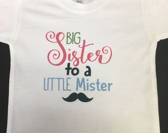 Big sister shirt, Sister shirt, Toddler sister shirt, sibling shirt, youth shirt, Big Sister Gift, Big Sister Toddler Shirt, Girl Sibling