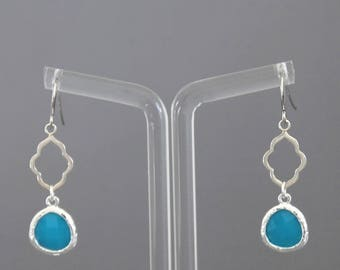 Jasmine earring blue