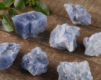 One Medium Blue CALCITE Crystal - Raw Crystal Specimen, Healing Crystal, Healing Stone, Chakra Crystal, Energy Crystal E0435