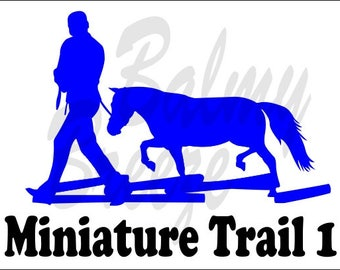 MH - 3 Miniature Horse Halter Obstacle  Vinyl Decal Sticker