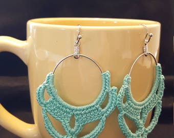 Crochet Earrings - Mint