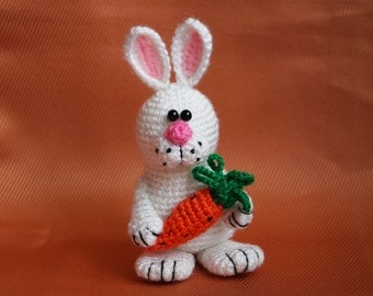 Easter gift Crochet bunny Housewarming gift Easter decoration Crochet rabbit Easter bunny Gift for kids Baby gift Stuffed bunny toy decor