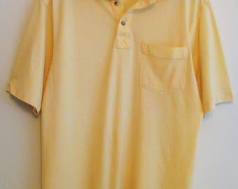 80's Oak Creek Yellow Wide Collar Polo