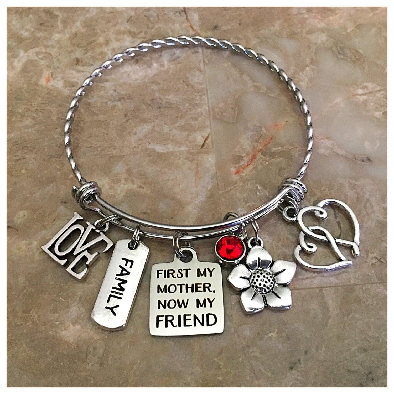 First My Mother Now My Friend Charm Bracelet Charm Bracelets Mom