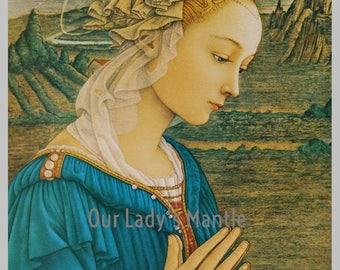 Virgin in Adoration by Fra Filippo Lippi 11x14 Art Print Religious Picture