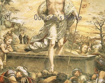 RESURRECTION OF CHRIST 8x10 Easter Religious Print Picture Printed in Italy