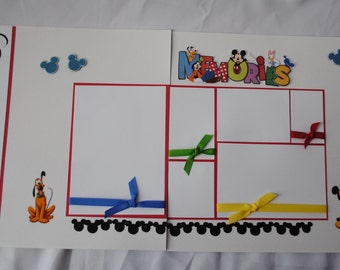 Disney Vacation Memories Two Page 12 x 12 Personalized Layout