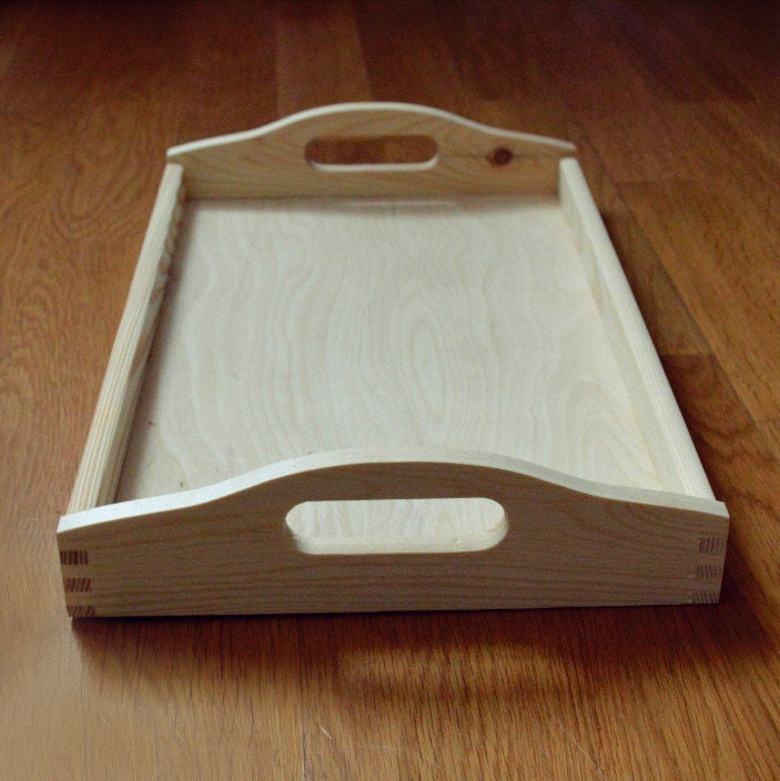 Large Breakfast Tray Large Wood Serving Tray Decorative