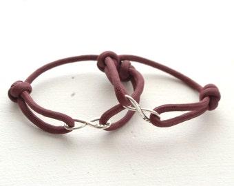 BFF Infinity Bracelets - Set of 2 Bracelets - Mens Womens Bracelets - Friends Gift - Two Bracelets - Best Friends Forever Jewelry
