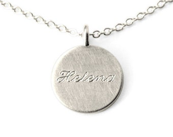 Silver name chain, necklace with engraving, personalizable