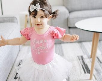 Custom Name Shirt, Personalized Girls leotard, Name Shirts for girls, Boutique clothing, Toddler gymnastics leotard, Girls dance leotard