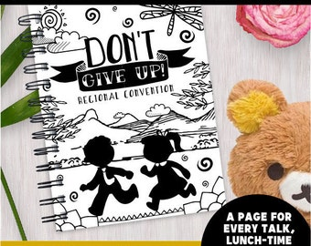 INSTANT DOWNLOAD [DIGITAL] Dont Give Up! Children's Convention Notebook Workbooks | Jw Convention | Jw Kids | Kids Convention Notebook