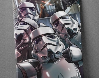 Stormtrooper star wars cm 50 x 70 print on canvas already framed and ready to hang