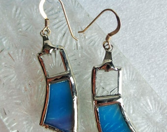 Stained glass - hand made in Quebec earrings-