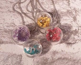 Dried Flower pendants