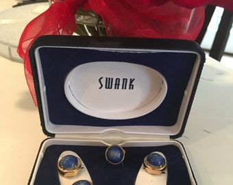 Swank Button Covers & Tie Tack Pin Set