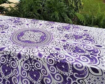 Mandala Tapestry, Boho tablecloth, Mandala Bedding, Beach blanket,  Boho Decor, Wall hanging, Mandala duvet cover, wall tapestry