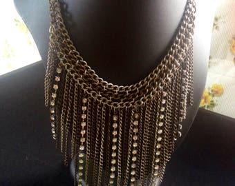 Gorgeous metalic bib necklace