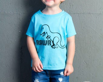 Rawr Dinosaur, T-Rex, Toddler T-Shirt in 11 Different Colors in Sizes 2T-5/6