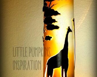 """Sunset over the Savannah"" PVC tube lamp"