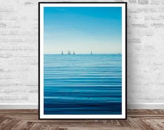 Sea Print, Boat Print, Sailboat Print, Nautical Wall Art, Nature Decor, Sailboat Decor, Sailboat Photography, Beach Decor, Instant Download