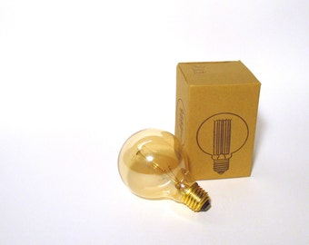 Incandescent globe bulb 40 W lightly tinted glass - Edison style vintage lamp - E26 / E27 (with screw)