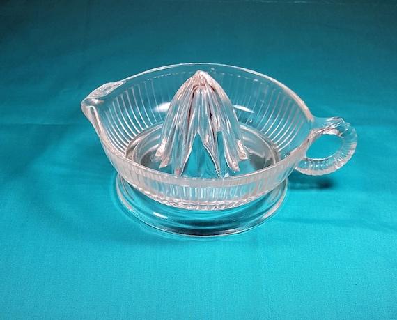 Glass Citrus Juicer Electric ~ Vintage citrus juicer glass lemon retro barware kitchen