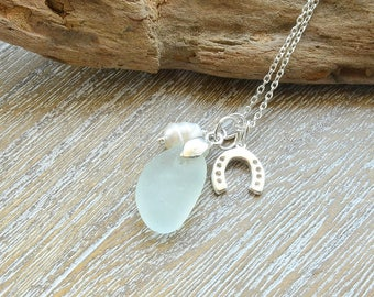 Beach Bride Jewelry, Beach Wedding Jewelry, Sea Glass Necklace,  Beach Wedding Necklace,  Destination Wedding Jewelry, Wedding Jewelry