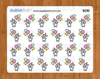 Happy / Celebrate / Balloon Bunny Planner Stickers (B1715)