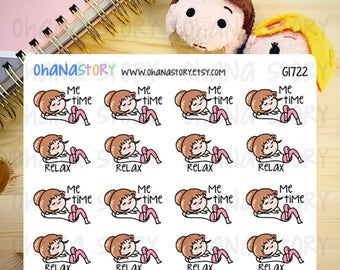 Janine has me time / relax Planner Stickers (G1722)