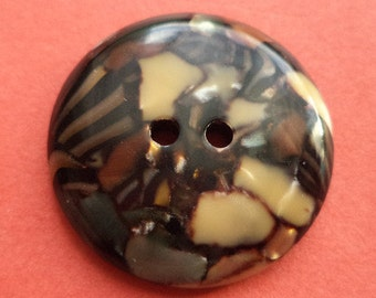 9 dark brown buttons 23mm (5958) button color
