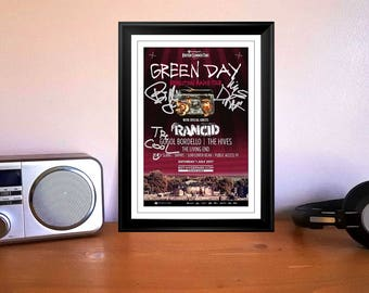 Green Day Revolution Radio Hyde Park London 2017 Concert Tour Flyer Autographed Signed Print