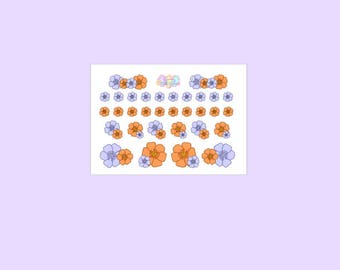 Flowers - Decoration stickers