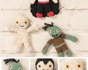 DMC Monsters Amigurumi Crochet Pattern , monster mash , toy crochet , stuffed toy, crochet toy