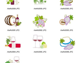 About-Wine-and-Grapes. ( 10 Machine Embroidery Designs from ATW )