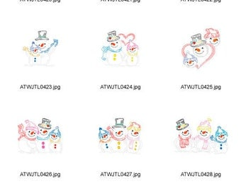 Snowman-Family-5x7 ( 10 Machine Embroidery Designs from ATW ) XYZ17C